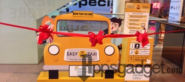 Easy Taxi Cebu Official Launch with Exclusive E-Taxi Booking Service Concierge in Ayala Center Cebu