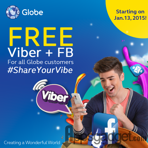 Globe Telecom offers Free Facebook with Free Viber