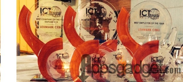 Lexmark Cebu Bags Awards in the 9th International ICT Awards 2015