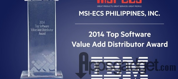 MSI-ECS wins the IBM Top Software Value Add Distributor Award