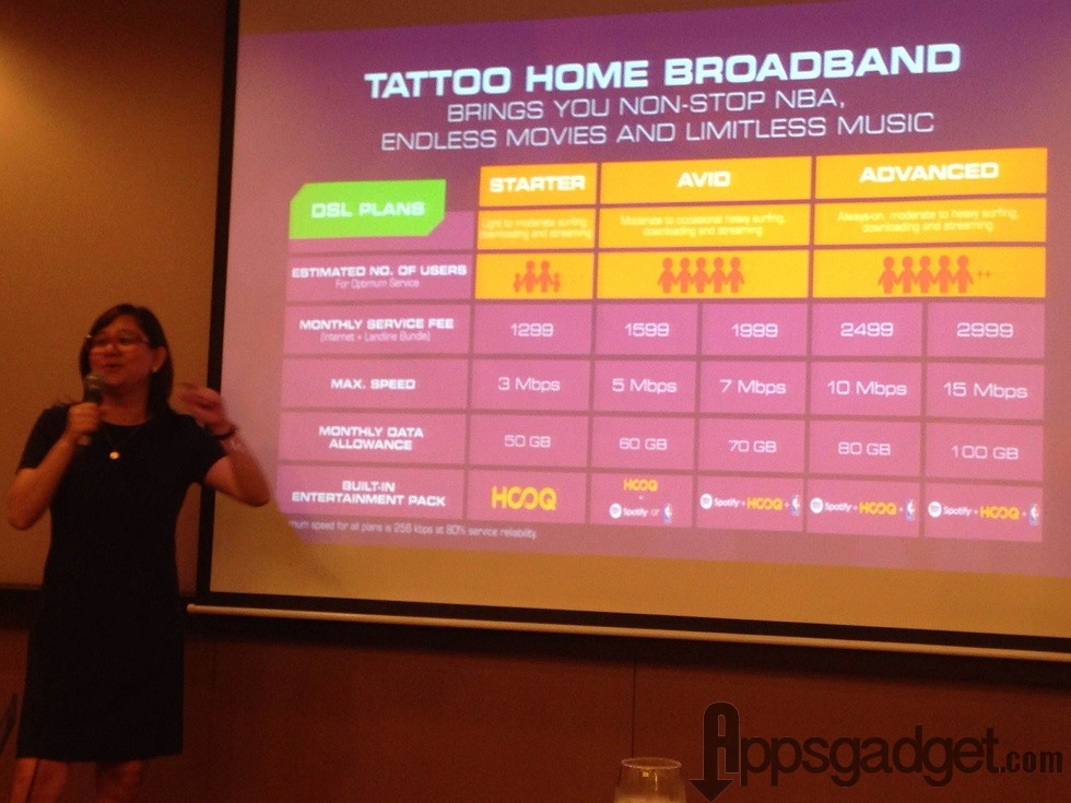 Tattoo Home Broadband New DSL Plans