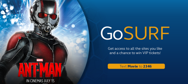 Free VIP Tickets in Marvel's Ant-Man Movie in Manila with Globe customers