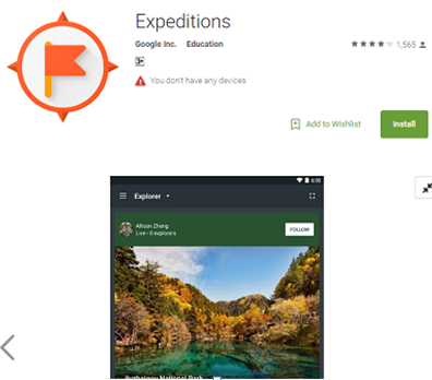 Expeditions VR App