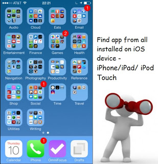 Alternate ways to find app on iPhone, iPad, iPod home screen