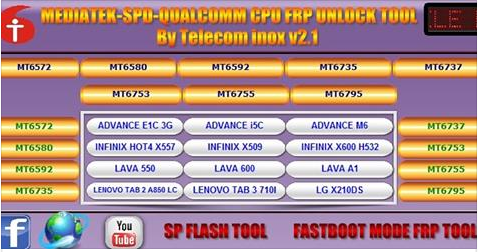 PMS Tool Qualcomm SPD, MTK Huawei FRP Tool