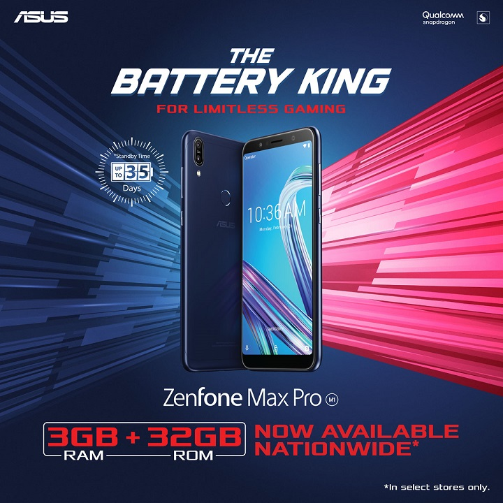ZenFone Max Pro M GB GB Variant Now Available
