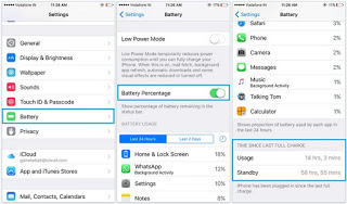 Battery Percentage Not Showing in iOS 9, 10, 11: iPhone X/8/7, iPad