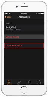 Prepare apple watch for sell: Erase data, settings, Passcode