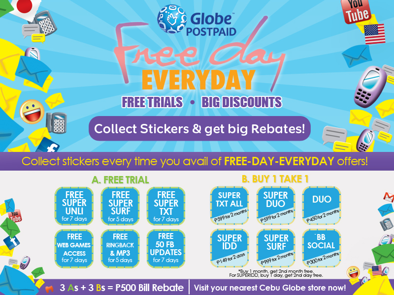Globe free day everyday project free trial