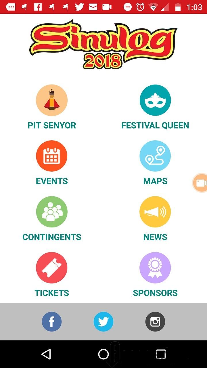 Sinulog 2018 Mobile App