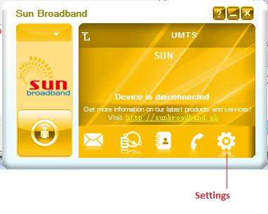Sun broadband stick setup windows