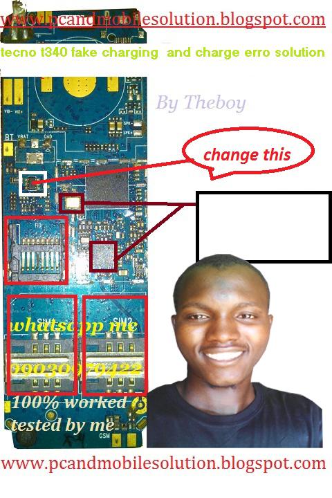 tecno t340 charging error solution