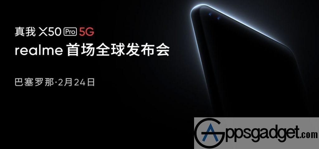 Realme X Pro G launch invite
