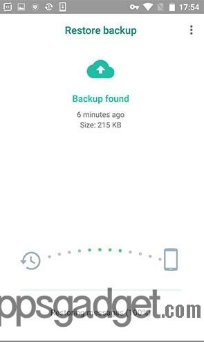 Restore WhatsApp Data Google Drive