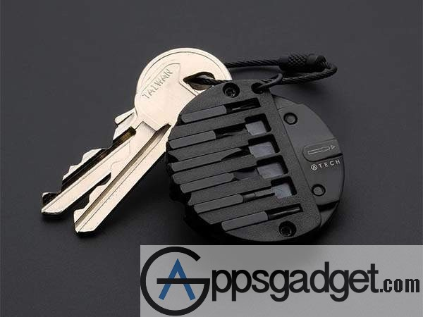 Atech Ultra Compact 8-In-1 Keychain Multitool