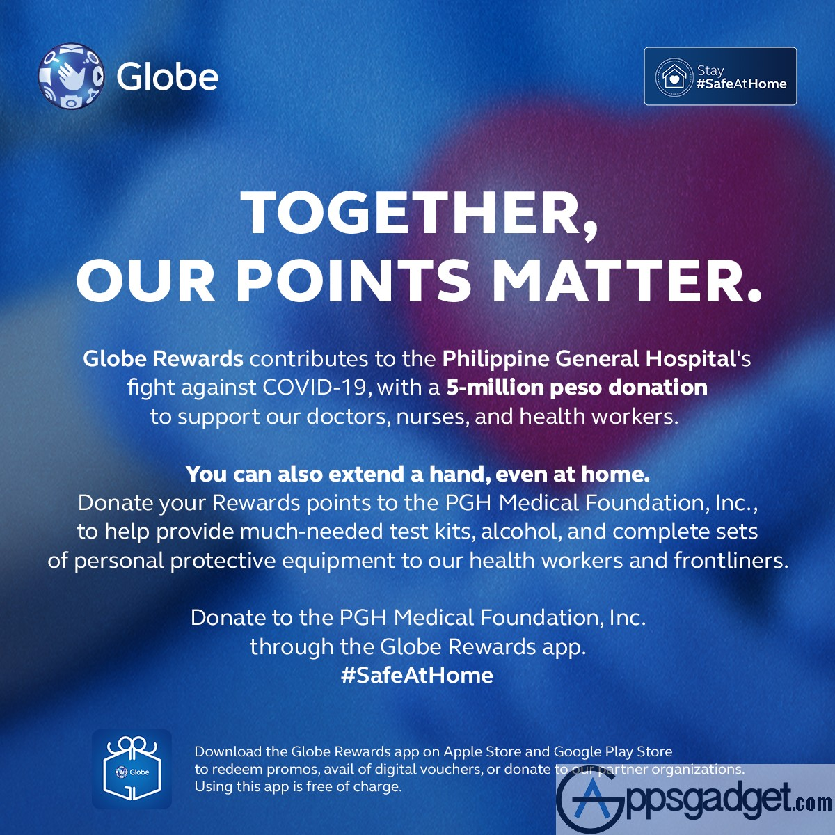 #SafeAtHome Globe strengthens efforts to aid healthcare frontliners with P5M donation via Globe Rewards