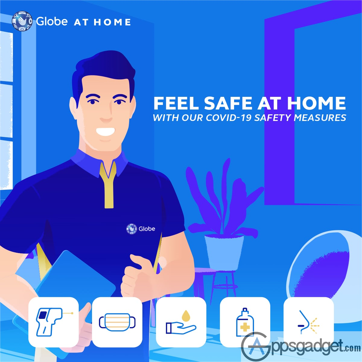 Globe at Home Stay Safe at Home KV