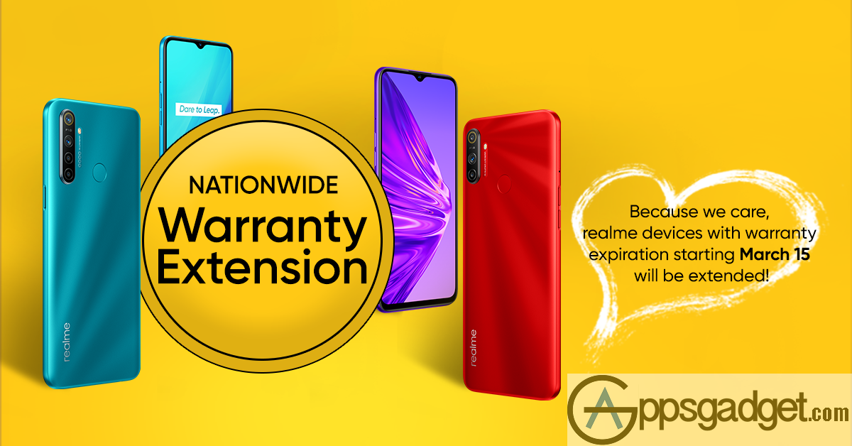 Due to ECQ Realme PH Extends Device Warranty Nationwide Seven Days after the Quarantine
