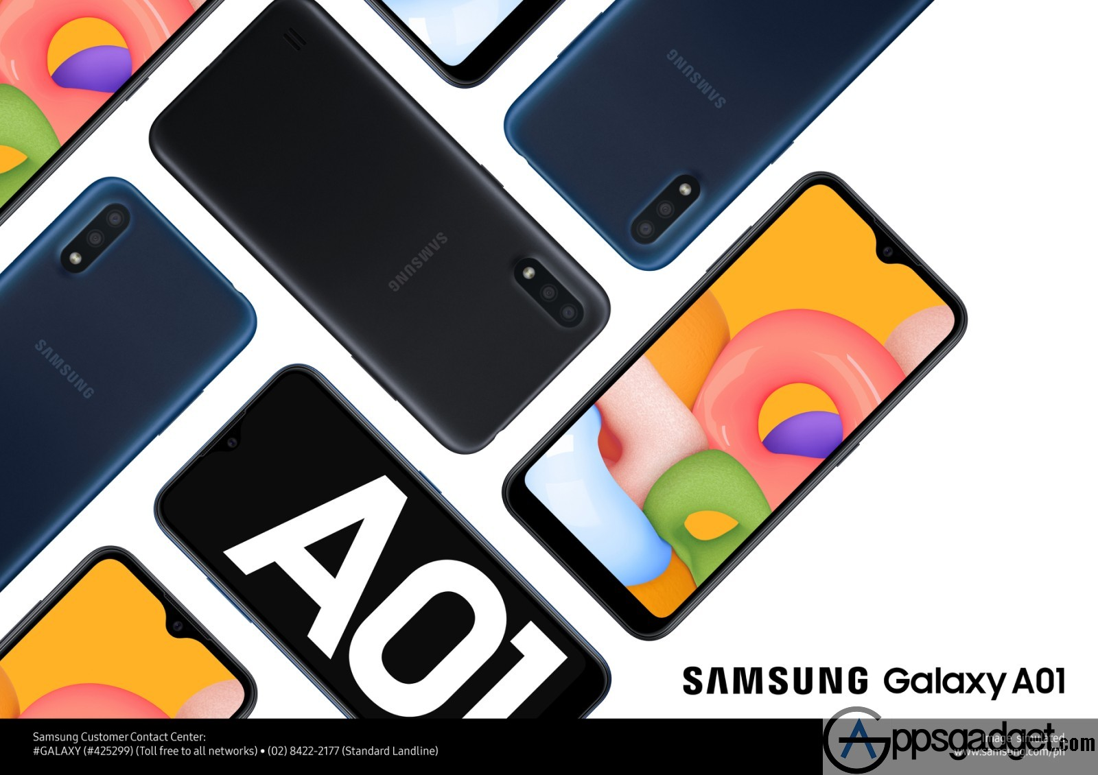 SAMSUNG Galaxy A01 with Infinity-V Display, 30000 mAh battery and 512GB expandable storage for Only PHP5,490