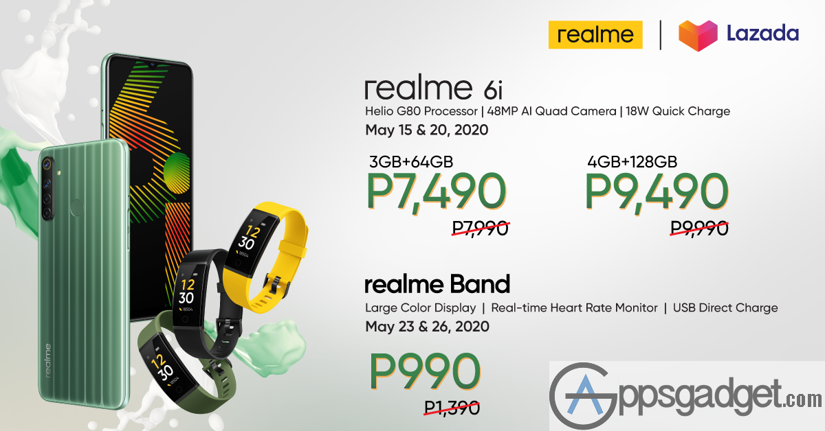 Realme 6i with 48MP quad camera setup Helio G80 chipset and 5,000mAh battery for PHP7,990 Launched in PH