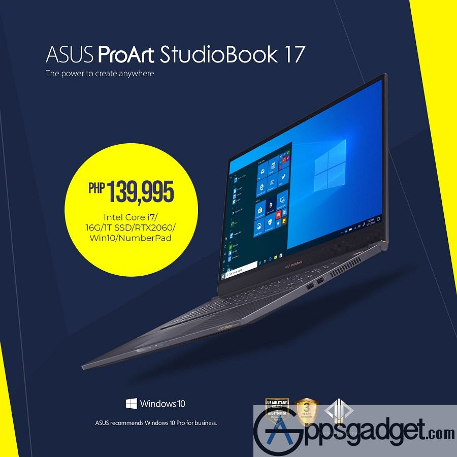 ASUS Launches ExpertBook B9 and ProArt StudioBook Series in PH ASUS ProArt StudioBook 17