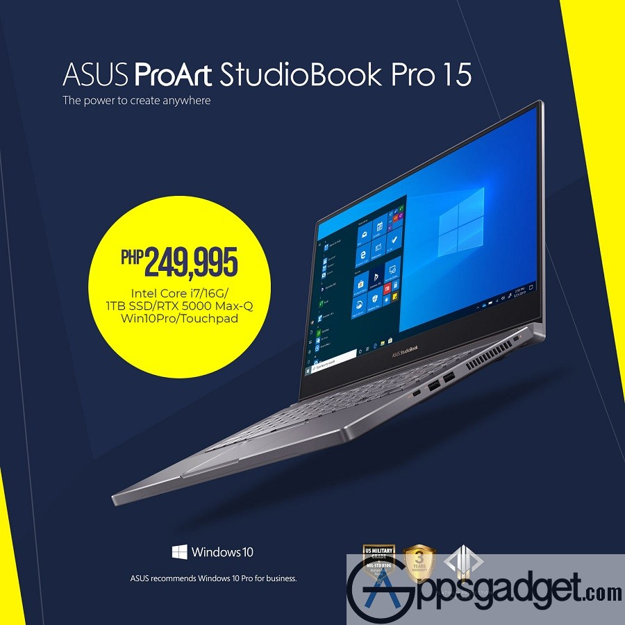 ASUS ProArt StudioBook Pro 15 ASUS Launches ExpertBook B9 and ProArt StudioBook Series in PH