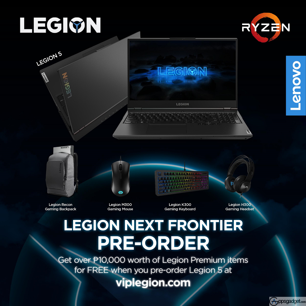 Pre-Order Lenovo Legion devices and Get free Legion accessories worth up to PHP 10,000.
