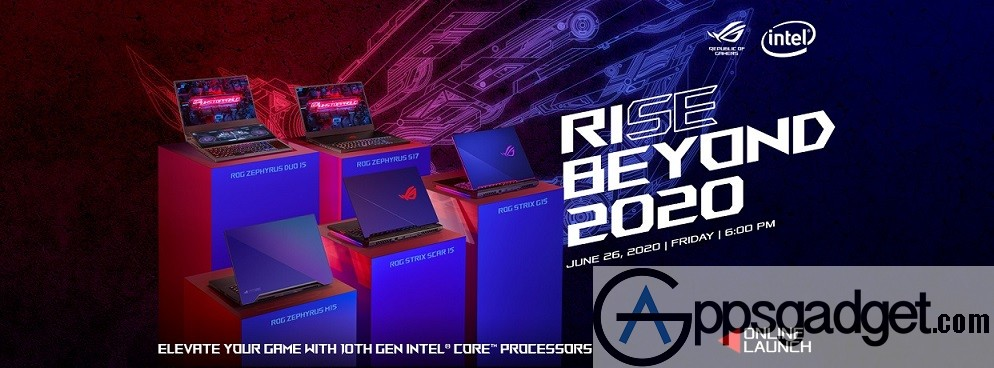 ROG Rise Beyond 2020 Launch June 26 6PM 1