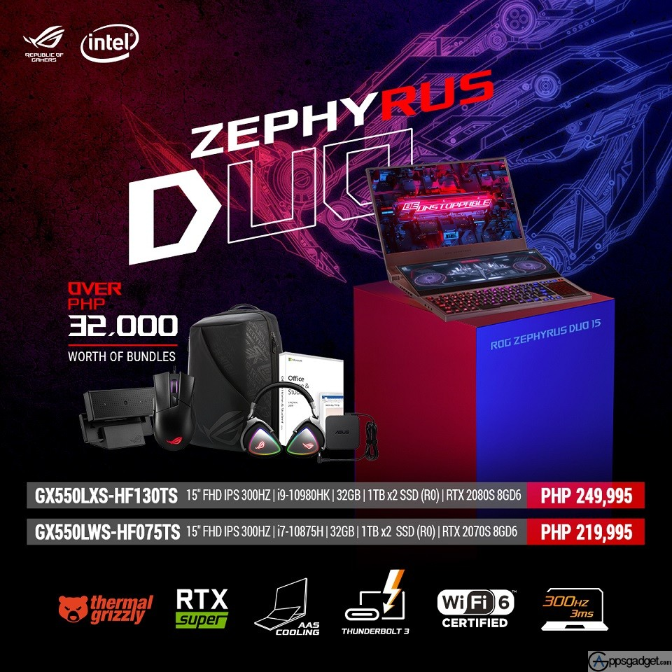 ASUS ROG Launches Zephyrus Duo 15 And Other Intel 10th GEN GAMING LAPTOPS