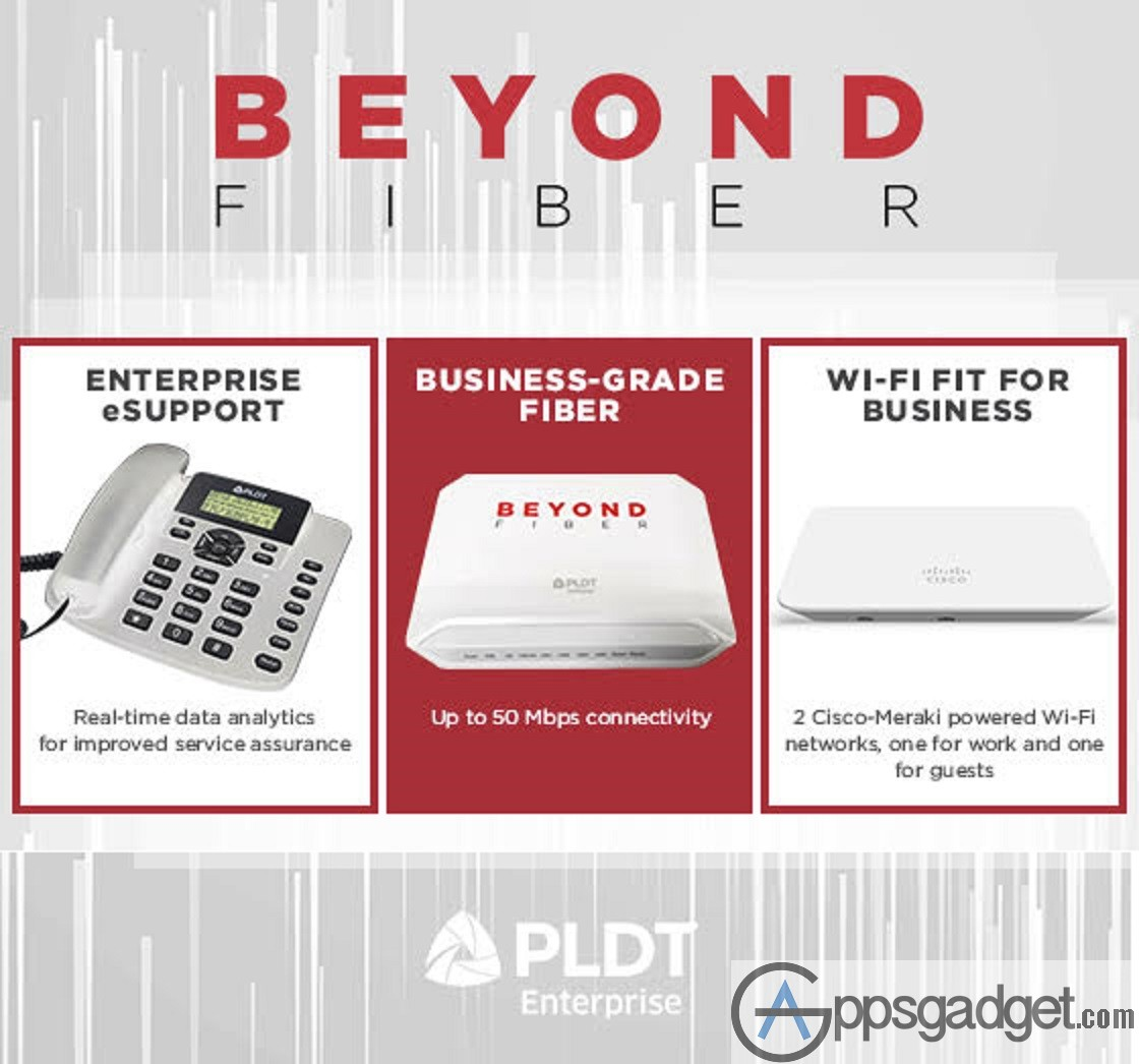 PLDT Launches Beyond Fiber Connection for only P2,500 a month w/ premium WiFi device and Dedicated business Hotline