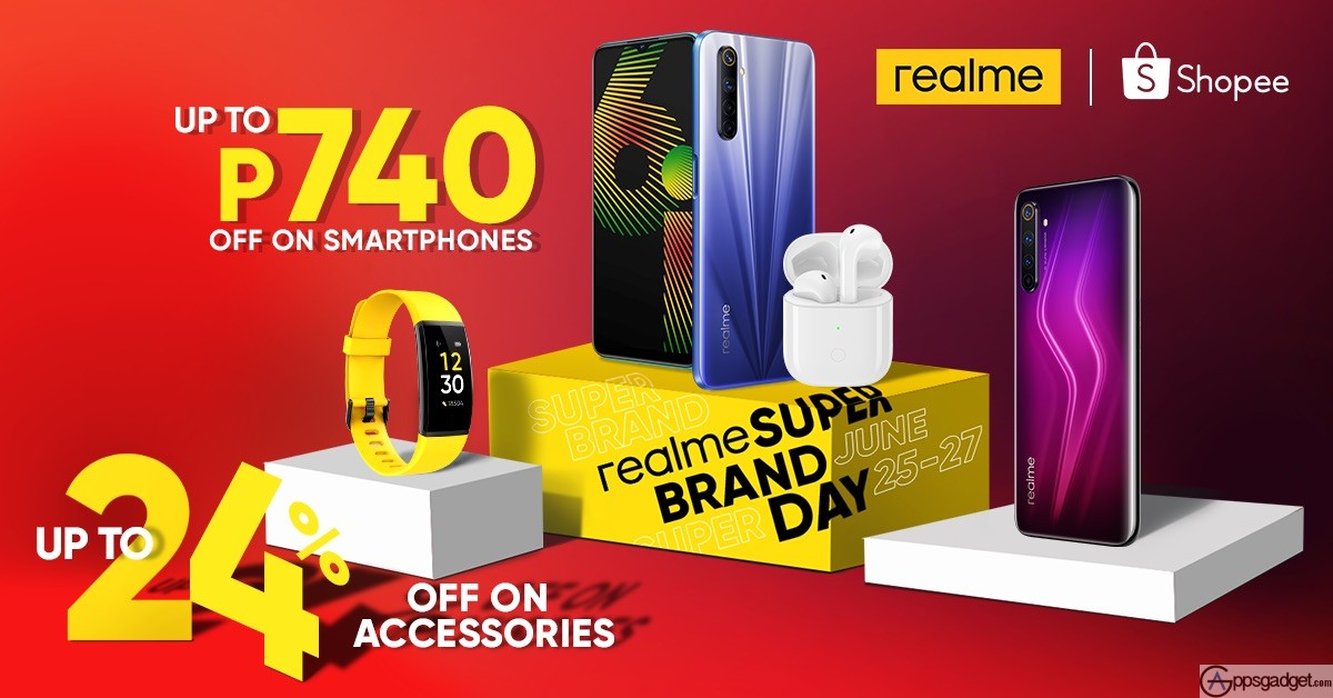 realme PH Joins Super Brand Day with discounts up to 24% in Shopee Flash Sales from June 25 to June 27