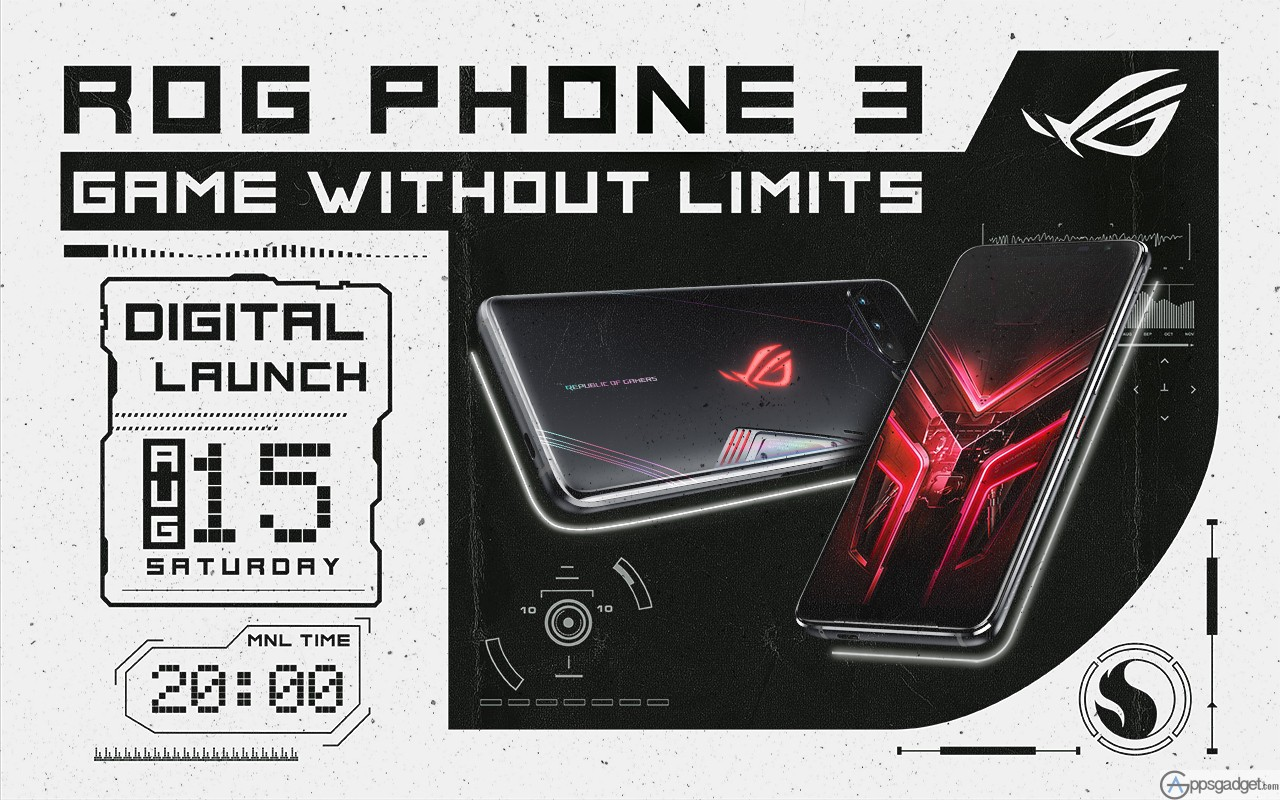 ASUS ROG PHONE 3 with Snapdragon™ 865, 16 GB RAM and 6000 mAh battery to be released on AUGUST 15, 2020
