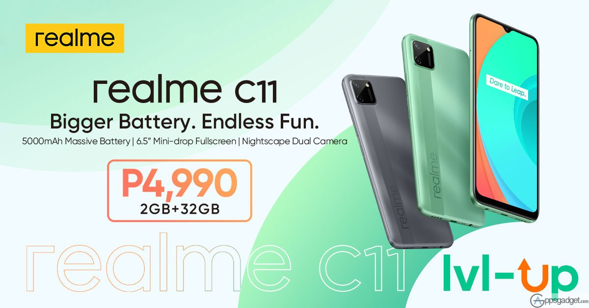 #EntryLevelUp realme C11 for Only Php 4,990 Perfect for Online Home Schooling and Work From Home