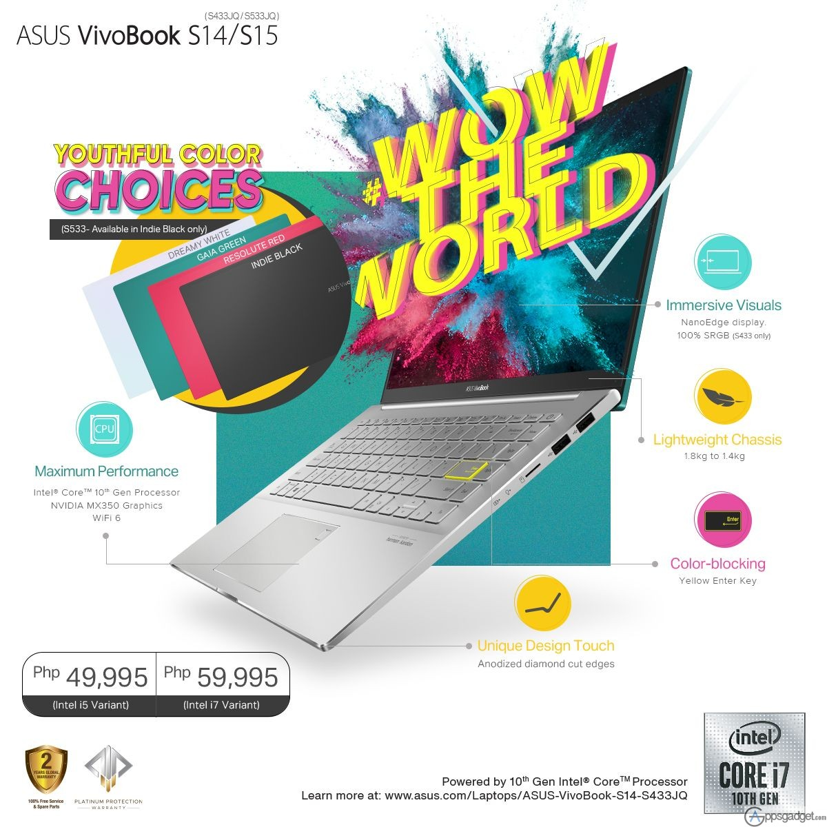ASUS VivoBook S14 and S15 Launched