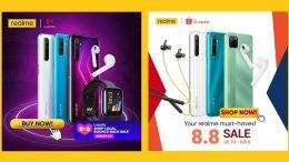 realme Lazada and Shopee 8.8 sale