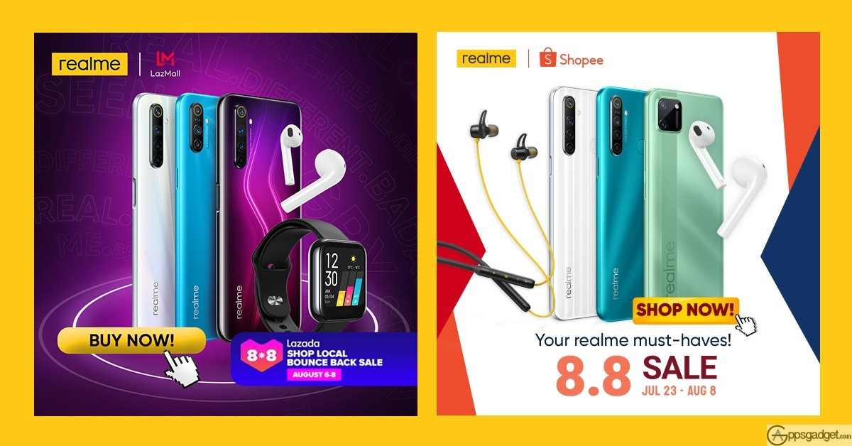 realme Shopee Lazada 8.8 Sale up to 34% discount during Fan Fest Month