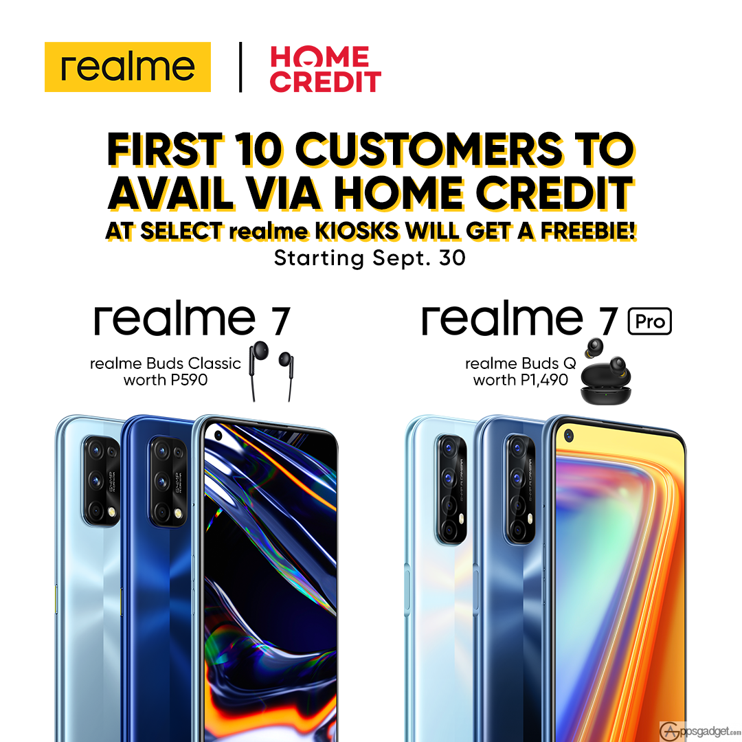 realme 7 and realme 7 Pro Official Launch Price, Home Credit and List of Stores Availability