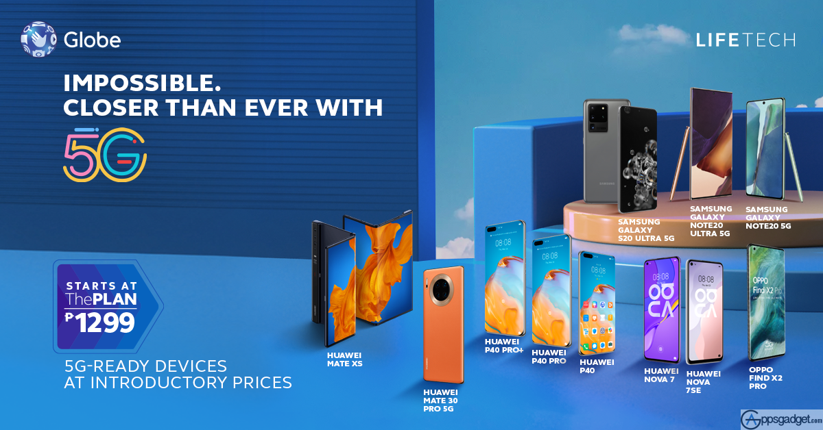 Get Discounted Globe Postpaid Discounted 5G Devices with #Globe5G Connection