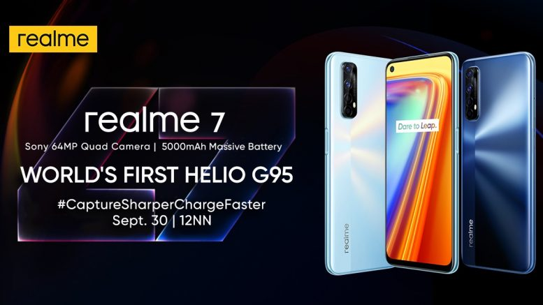 Photo Release realme to launch realme 7 on September 30