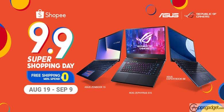 List of ASUS and ROG Items for Sale this on Shopee 9.9 Super Shopping Day