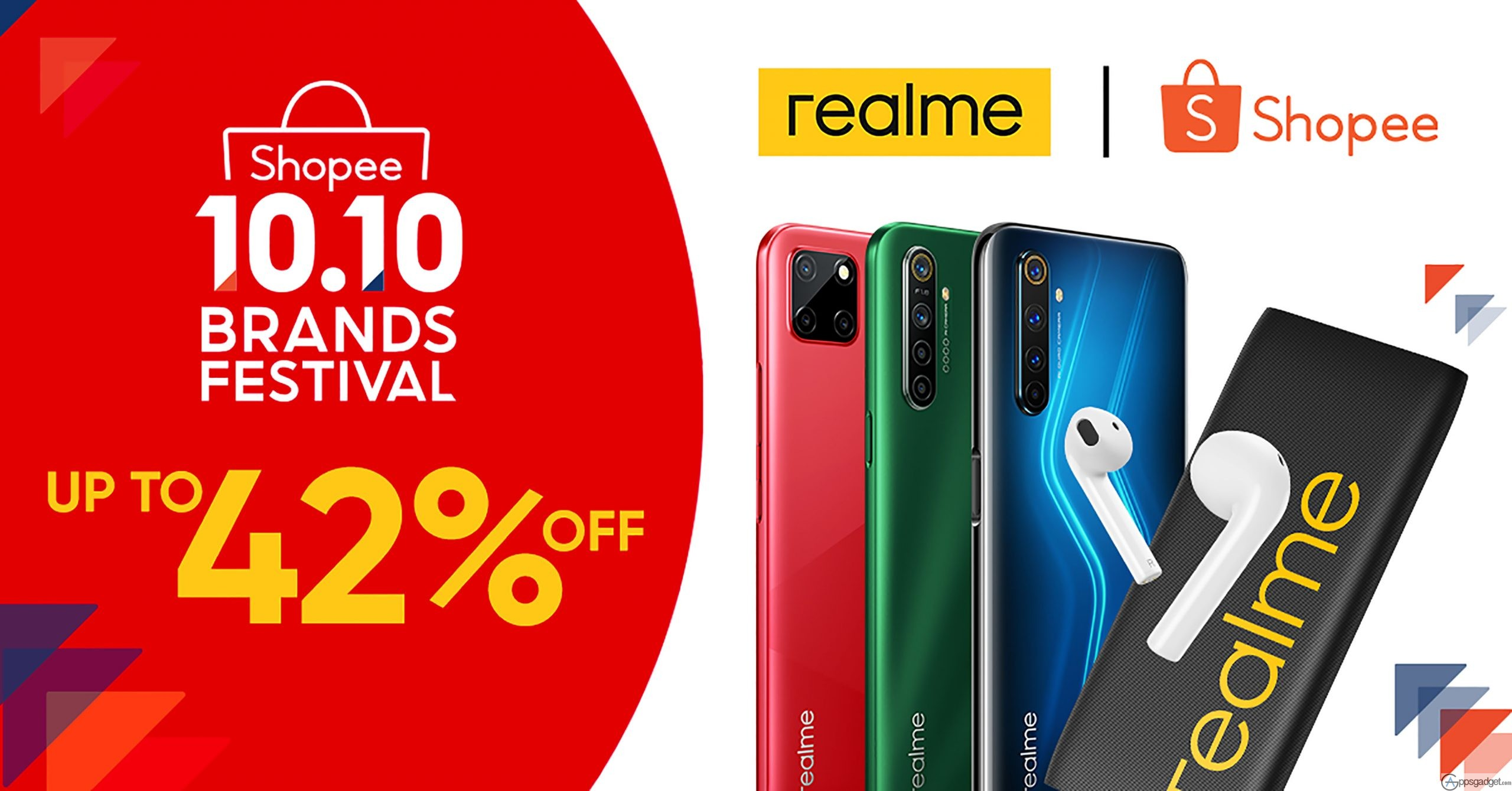 realme Shopee 10.10 Brand Festival Sale Get Up to 42% Discount