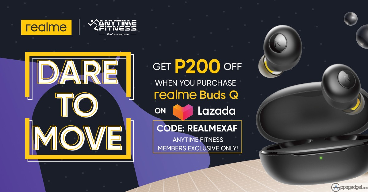 Get Discounts When you Purchase realme Buds Q Exclusive for Anytime Fitness Members to Stay safe and Fit