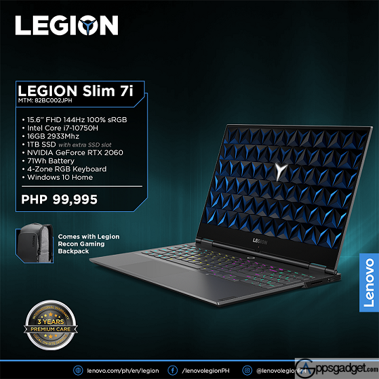 Lenovo Legion Slim 7i with NVIDIA GeForce RTX 2060, 16GB 2933MHz DDR4, and 1TB SSD Launched
