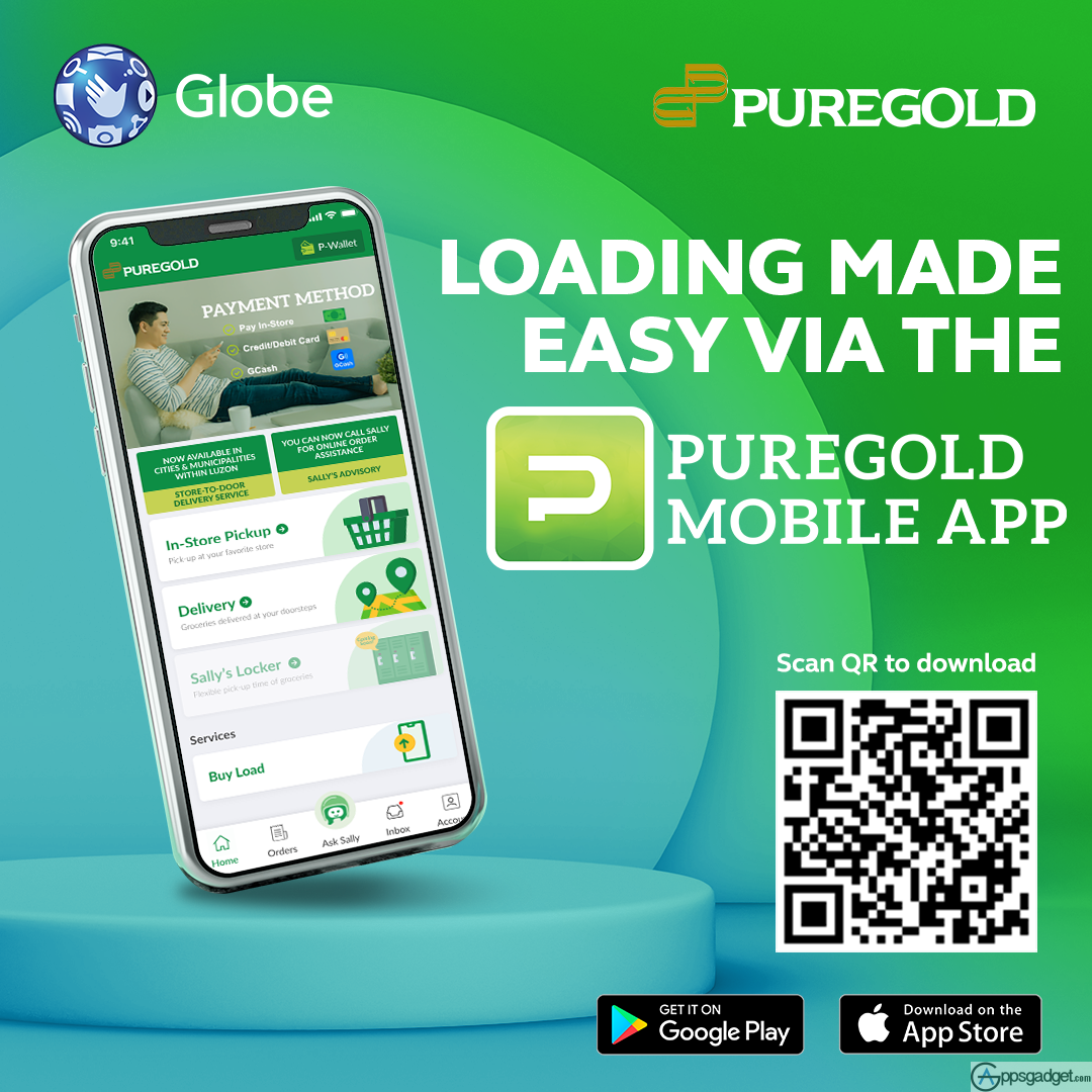 Puregold Mobile App Feature Buy Globe and TM Load