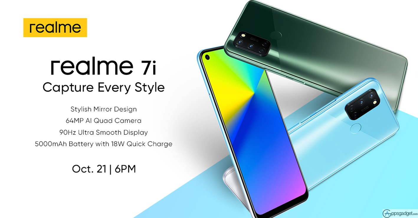 realme 7i to Launched October 21 in PH