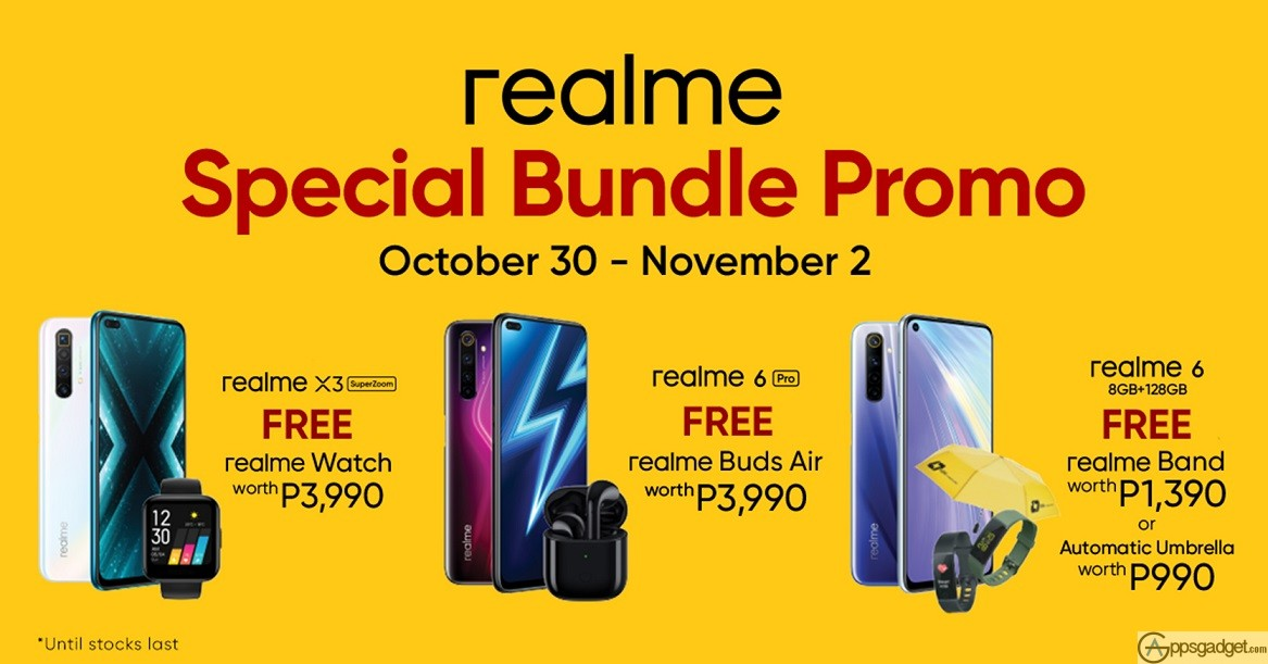 realme Special Bundle Promos and Freebies for the Early Holidays