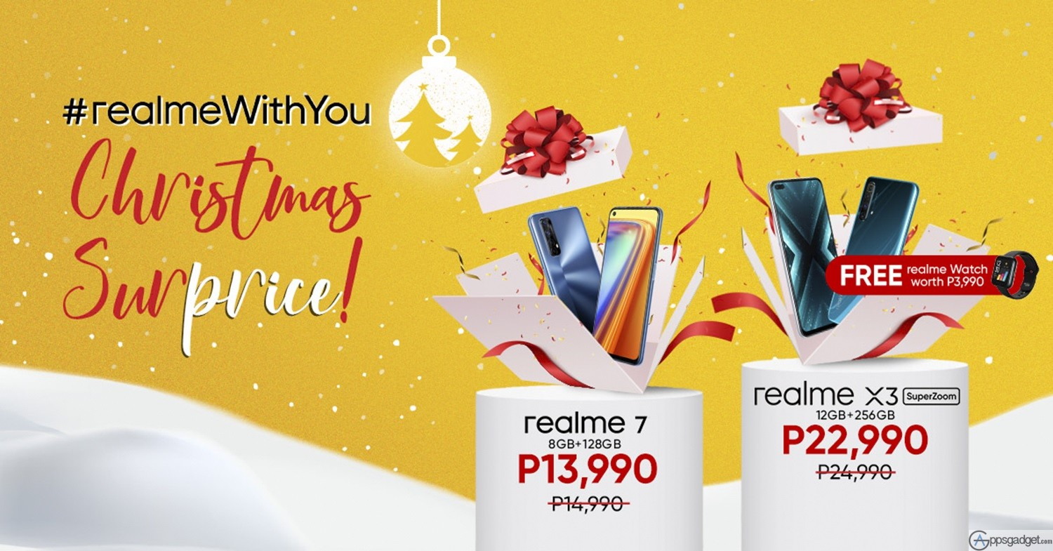 Powerful Smartphones realme X3 SuperZoom & realme 7 Mark Down Prices this Christmas Special #realmeWithYou