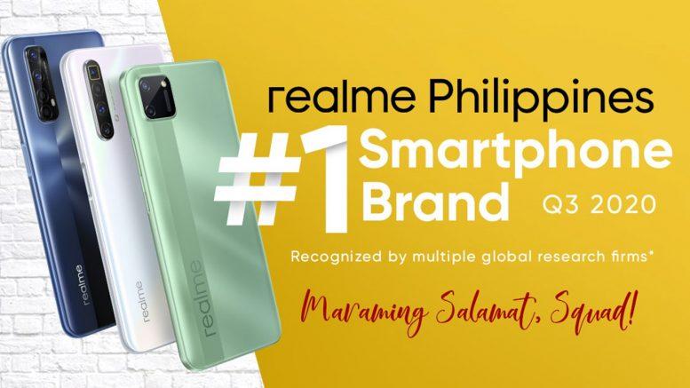 KV realme no. 1 smartphone brand in PH