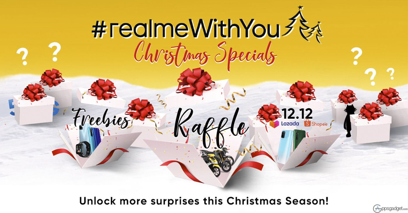 Get your Wishlist Ready with realme #realmeWithYou Christmas Sale with huge Prizes and Exciting promos