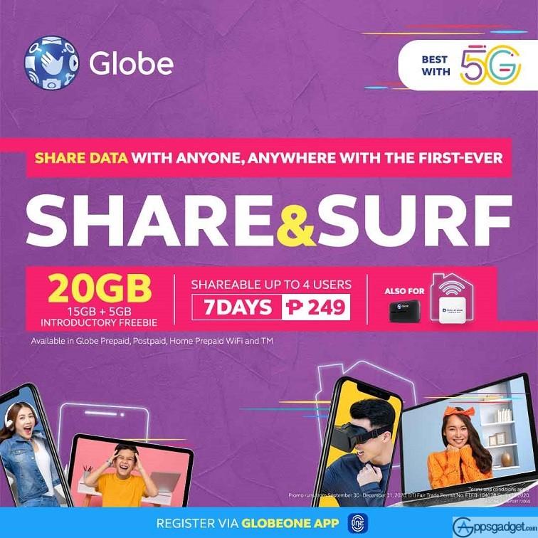 Globe SHARE&SURF249 Shareable Data Promo
